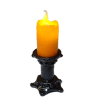 Flickering Halloween Candle on Medium Black Base - Battery Op