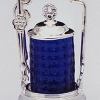 Limited Edition Numbered Sterling Silver Cobalt Pickle Caster