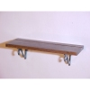 Walnut Wood Plate Shelf with Metal Brackets