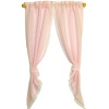 Hand Crafted Pretty Pink Demi Tie Back Curtains