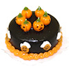 Handcrafted Halloween Pumpkin Chocolate Spice Cake