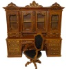 Bespaq Limited Edition Ginsburg Bookcase Desk and Chair Set