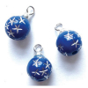 Set of Blue Starburst Christmas Ornaments.