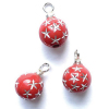 Set of Red Starburst Christmas Ornaments.