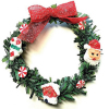 Christmas Wreath with Santa and Candy Cane