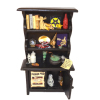 Large Filled Halloween Magic Witch Bookcase or Hutch