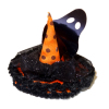 Handcrafted Halloween Witch Hat With Ghost