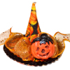 Halloween Witch Hat With Jack O Lantern Pumpkin and Sequins