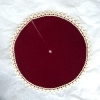 Lace Trimmed Burgundy Christmas Tree Skirt