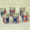 Six Metal Beer or Soda Cans
