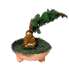 Handcrafted Asian Bonsai Tree with Buddha
