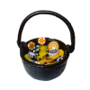 Halloween Cauldron Filled With Candy Treats