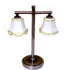 Modern Double Tulip Shade Table Lamp