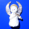 Angel Christmas Tree Topper Playing Violin with Sparkly Wings