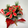 Hand Crafted Blooming Christmas Poinsettia Wrapped in Foil