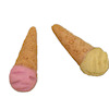 Two Handcrafted Ice Cream Cones