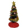 Decorated Peppermint Swirl Christmas Tree with Gold Garland