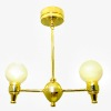 Battery Operated Modern Two Arm Globe Chandelier
