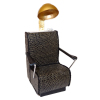 Handcrafted Beauty Salon Black Snakeskin Dryer Chair