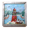 Little Red Lighthouse Original Miniature Painting