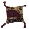 Burgundy Pillow With Tassels